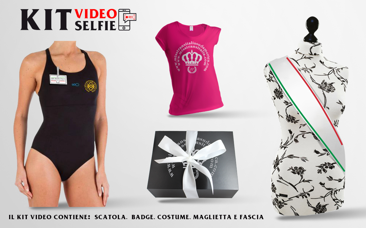 Kit Video Selfie Miss Trans Italia e Sudamerica
